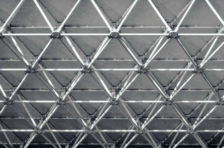 Black and white abstraction. Beams under the roof. Beautiful background