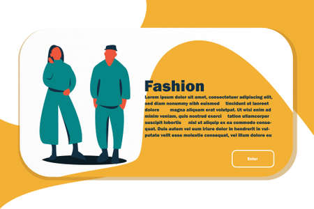Website Layout with Flat People Characters. Easy to Edit and Customize. Vector illustration