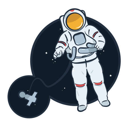 Cosmic icon illustration. 矢量图像