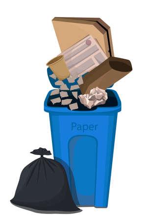 Vector illustration of paper trash