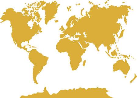 Vector illustration of world map silhouette