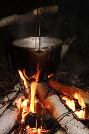 combust: campfire Stock Photo