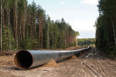 �onstruction of the pipeline photo