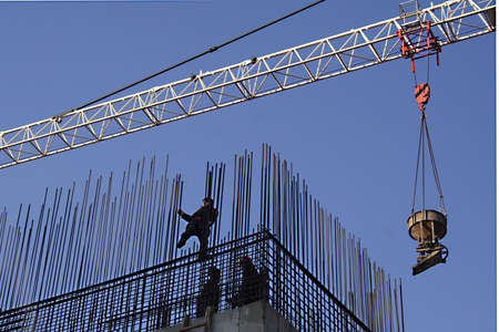 armature: workers install armature