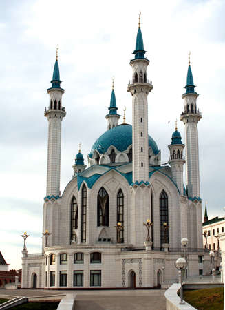 sity: Russia. Sity of Kazan. The Kul Sharif mosque is largest in Europe.   Stock Photo