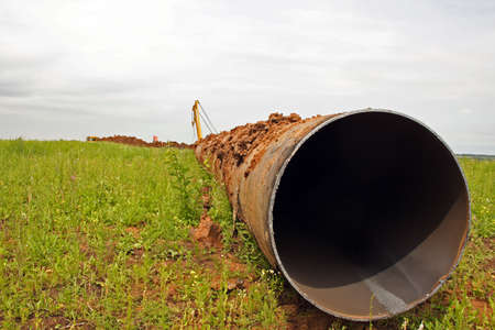 Construction of the pipeline photo