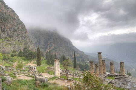 delfi: The Temple of Apollo at Delphi