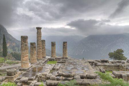 The Temple of Apollo at Delphi photo