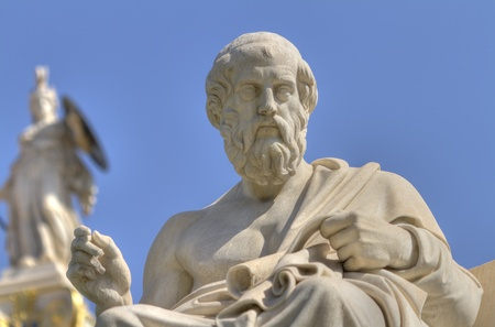 plato: statue of Plato from the Academy of Athens,Greece