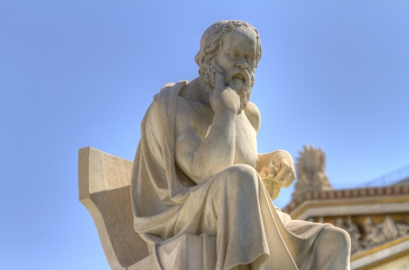 platon: Socrates statue from the Academy of Athens , Greece Stock Photo