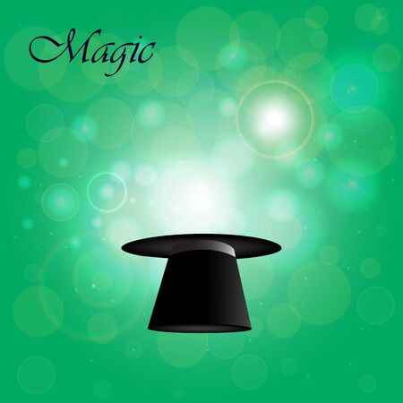 appears: Magic hat from which magic light appears