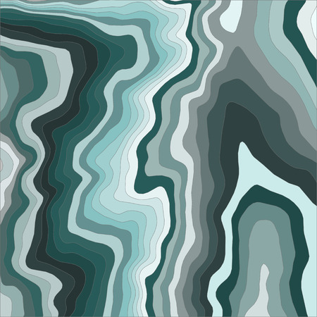 Abstract waves background. Green color curved lines  イラスト・ベクター素材