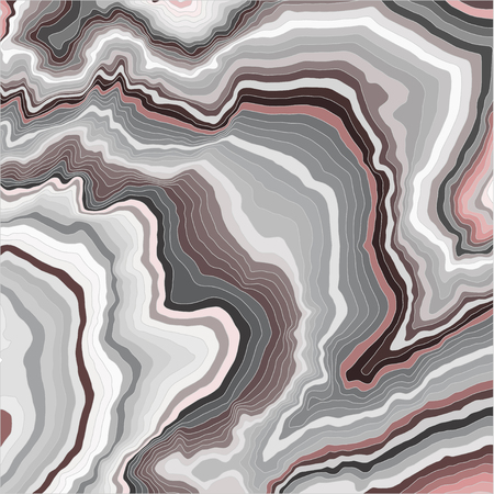 Abstract waves background. Gray and red color curved lines