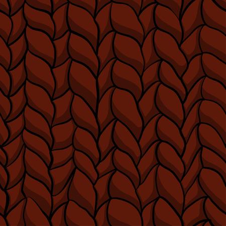 winter wheat: Seamless knitted pattern