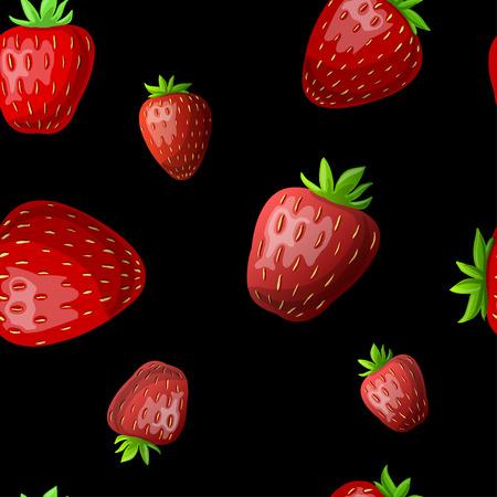 Vector strawberry seamless pattern. Illustration