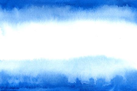 Bandera de Argentina en estilo de acuarela. Manchas azules de la acuarela Foto de archivo - 81961550