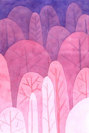 watercolor tree pattern gradient background