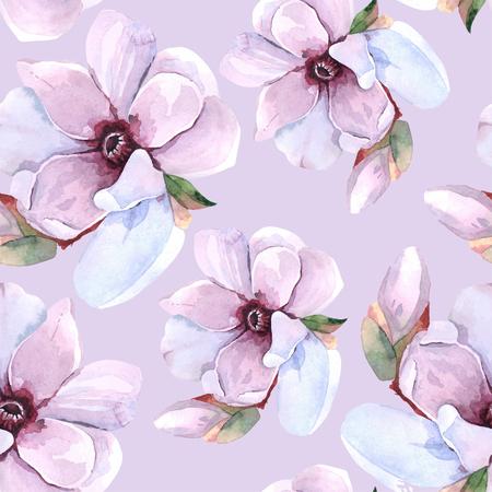 Naadloos waterverf romantisch bloemenpatroon Vector Illustratie