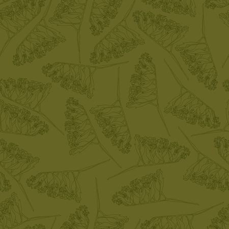 Vector seamles floral pattern for wrapping paper, textile, coloring book