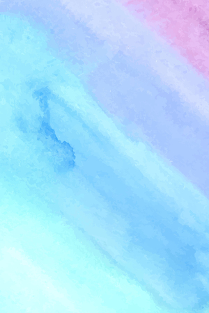 Colorful blue violet pink wet brush paint vector card for text design, wallpaper.