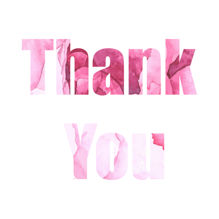Watercolor thank you lettering. Template for design Ilustrace