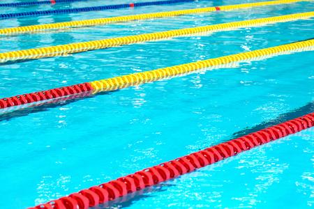 Empty professional swimming pool. Close up. Stockfoto