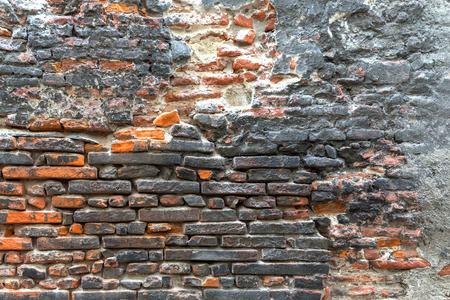 Black and orange brick texture.