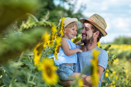 Raising a child in the countryside.