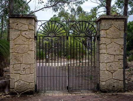pike place: Scenic forged gate entrance in Yanchep National Park, City of Wanneroo, Perth, Western Australia