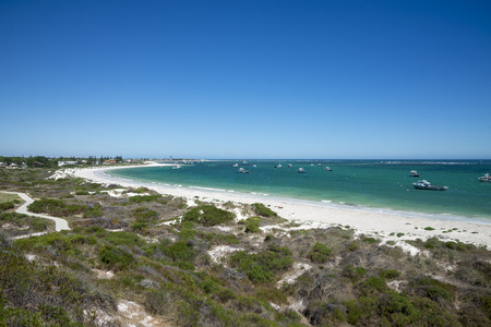 scenic drive: Lancelin town and beach in Western Australia Stock Photo