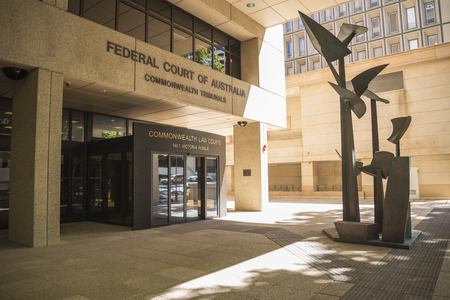 Entrance to Federal Court of Australia, Commonwealth Tribunals, Perth City, Western Australia