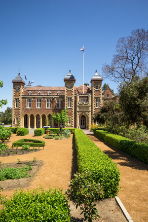gothic revival: Government House and landscaped garden in Perth City center, Western Australia
