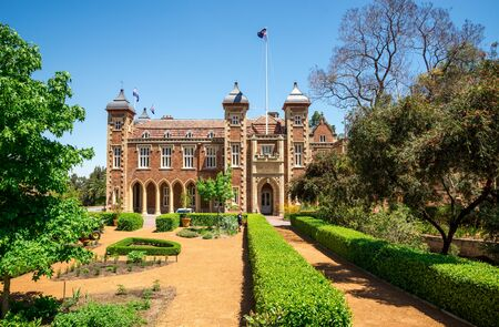 Government House and landscaped garden in Perth City center, Western Australia