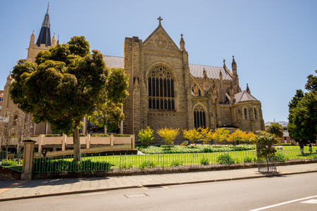 Side view of St Marys Cathedral in Perth City, Western Australia