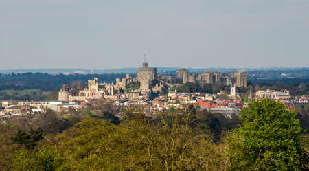Windsor Castle view from Legoland Windsor theme park, England