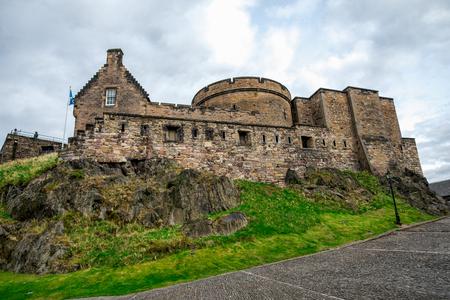 An inner view of Edinburgh Castle, Scotland Stock Photo