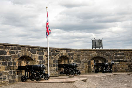 Half Moon Battery cannons in Edinburgh Castle, Scotland