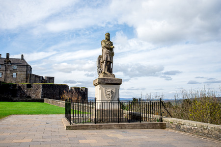 Statue of Robert the Bruce outside of Striling Castle, central Scotland