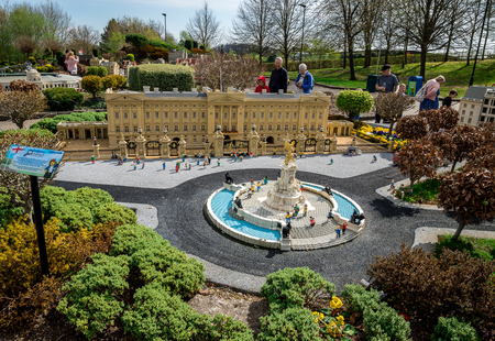 Buckingham palace and Victoria Memorial models at Legoland Windsor miniland, England Editorial