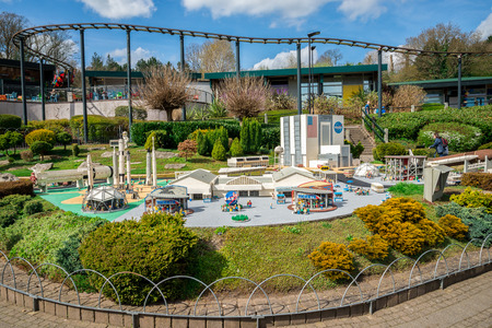 NASA Kennedy Space Center LEGO model displayed in Legoland Windsor miniland, England Editorial