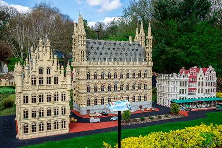 LEGO model of Leuvin town of Belgium displayed at Legoland Windsor park, England