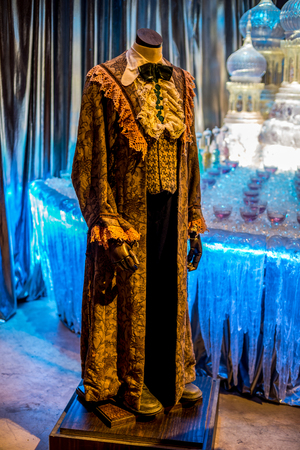 Ron Weasley Yule Ball Robe displayed at Warner Brothers Harry Potter Movie Studio Tour, London