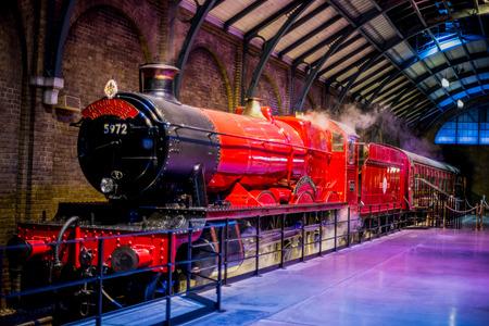Hogwarts Express at platform 9 3/4 in Warner Brothers Harry Potter Studio Tour, London