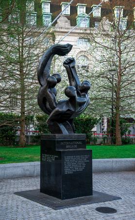 International Brigade Memorial in Jubilee Gardens, London, England