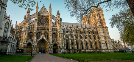Westminster Abbey view from St Margaret's Church side, London