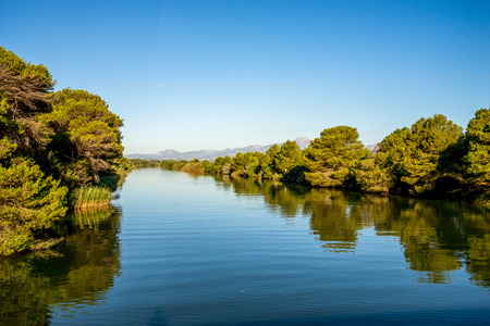 SAlbufera Natural Park lagoon near Alcudia, Mallorca Reklamní fotografie