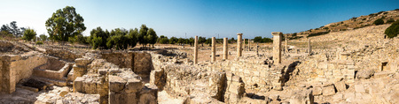 Panorama of Amathus ancient city archaeological site in Limassol, Cyprus Stock Photo
