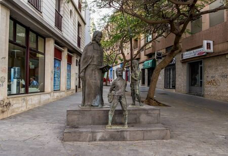 A sculptural group in San Juan Bautista de La Salle square at Santa Cruz de Tenerife, Canary Islands, Spain