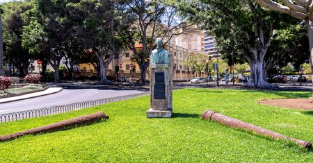 Bust of Spanish vice admiral and politician Juan Bautista Antequera y Bobadilla in Santa Cruz de Tenerife, Canary Islands, Spain