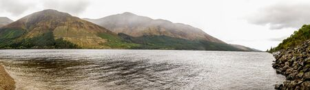 Clouds covering highlands around Loch Lochty spectacular landscape, Scottish Highlands